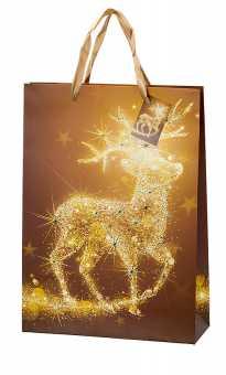 Geschenktragetasche Groß      GOLDENER HIRSCH
