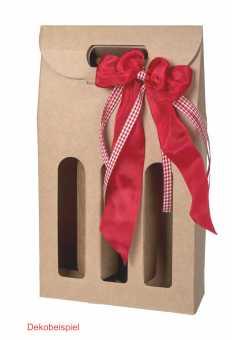 Tragekarton 3er OLIVIA NATUR  für schmale Flaschen