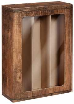 Präsentkarton 3er             VINTAGE mit Fenster
