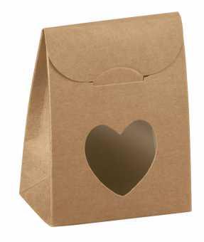 Geschenktüte VINTAGE          mit Herz Natur