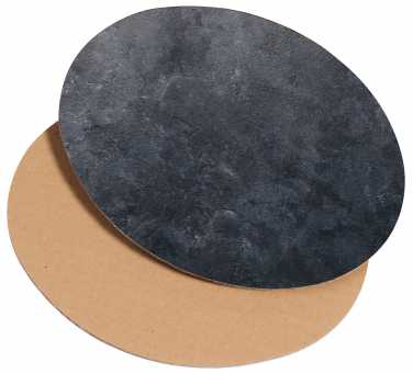 Dekoplatte Oval Klein         Schieferoptik