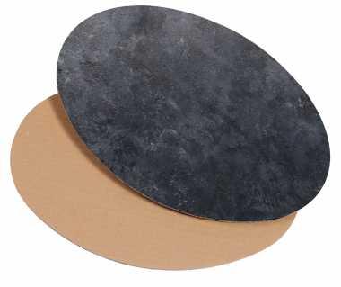 Dekoplatte Oval Groß          Schieferoptik