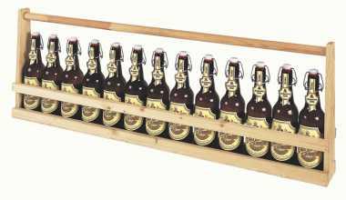 Holzflaschenträger1 Meter     BIER