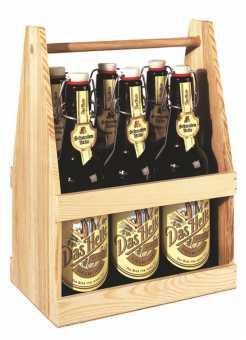 Holzflaschenträger 6er BIER