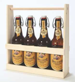 Holzflaschenträger 4er BIER