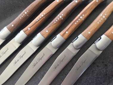 Art de Laguiole Steakmesser   Olivenholz