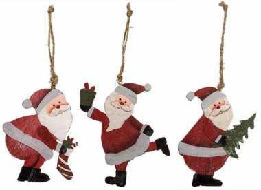 Holz-Weihnachtsmänner 3tlg.