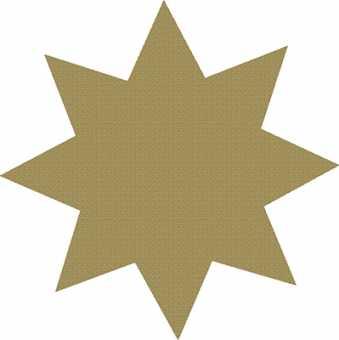 Stern Sticker Gold            im Kartonspender