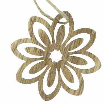 Holzanhänger Blume