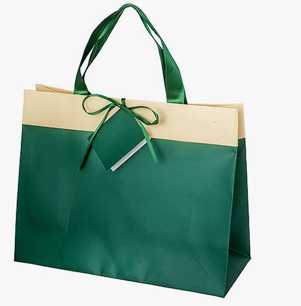 Shopping Bag                  GRÜN/CREME GROß