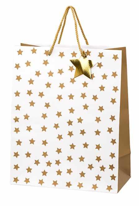 Geschenktragetasche           GOLDEN STARS