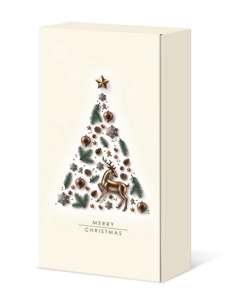 Präsentkarton 2er             MERRY CHRISTMAS