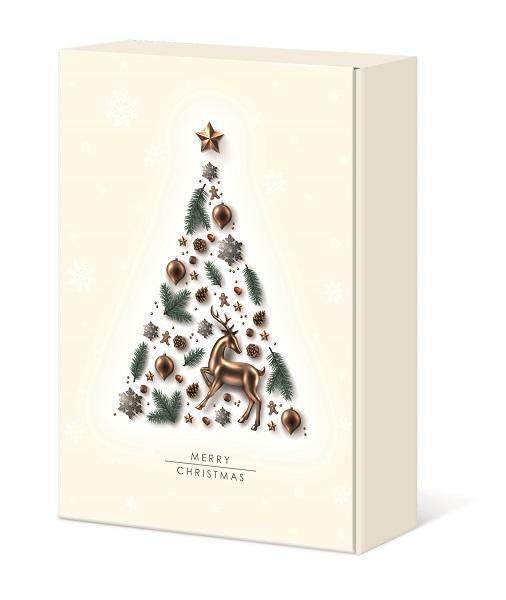 Präsentkarton 3er             MERRY CHRISTMAS