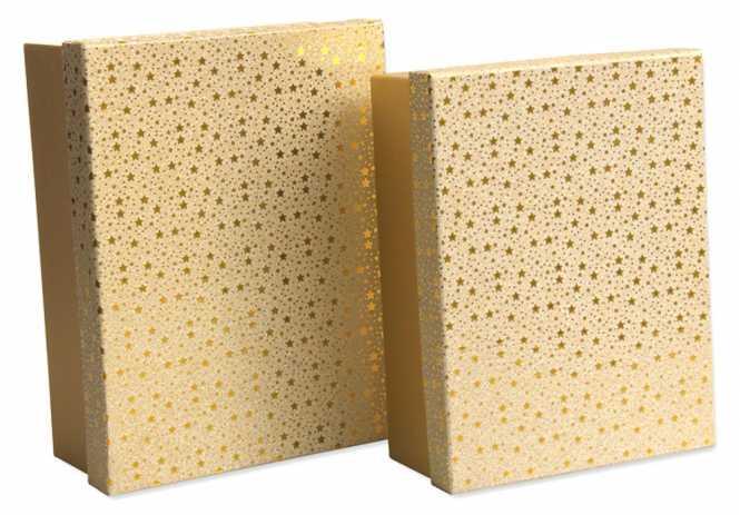 Geschenkbox GOLDSTERNE        2er Set
