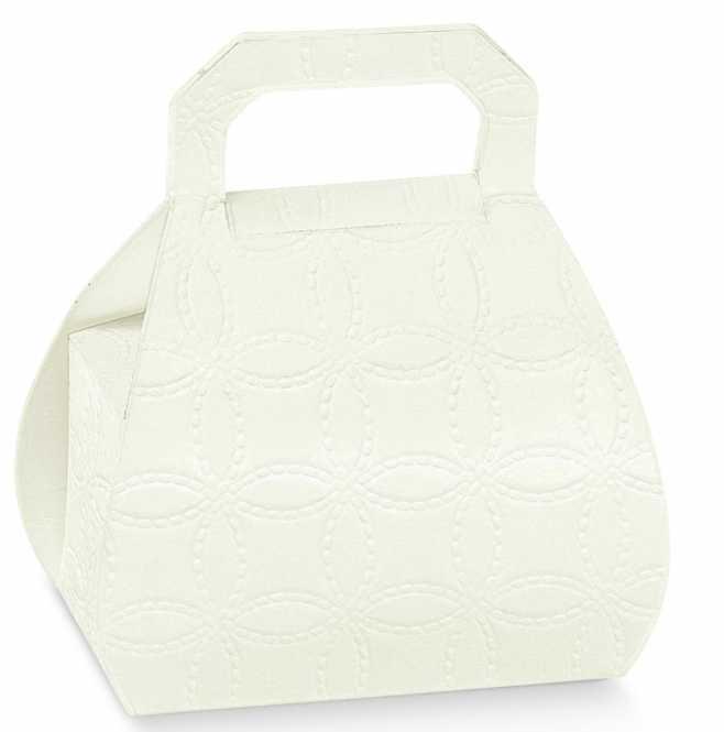 Gastgeschenk                  Mini-Tasche Weiss