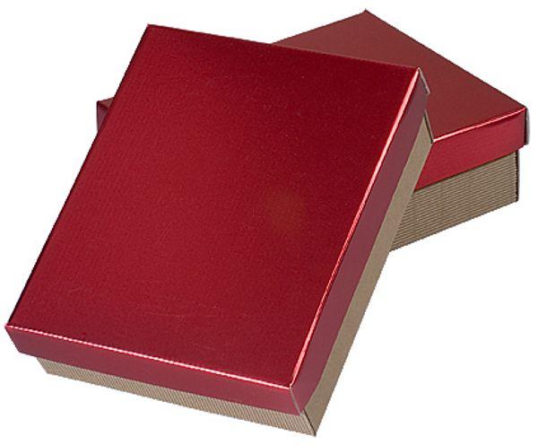 Geschenkkassette MINI         Natur/Deckel Rubinrot