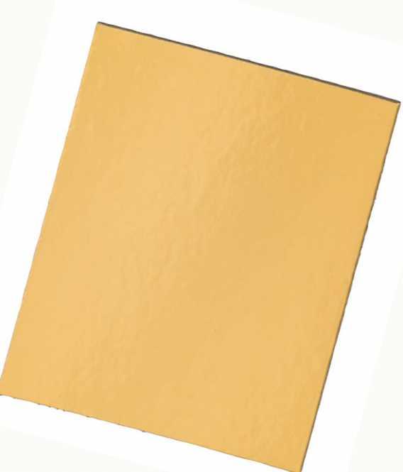 Dekoplatte Rechteck Gold Klein