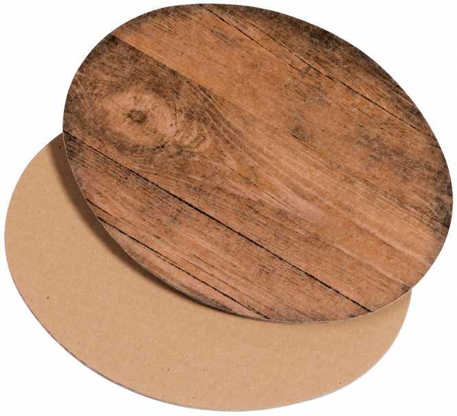 Dekoplatte Oval               Holzoptik Klein