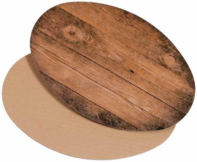 Dekoplatte Oval               Holzoptik Groß