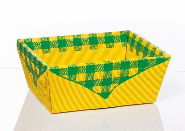 Präsentkorb PICKNICK          GELB / GRÜN