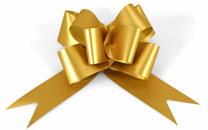 Fertigziehschleife            GRANDE GOLD MATT
