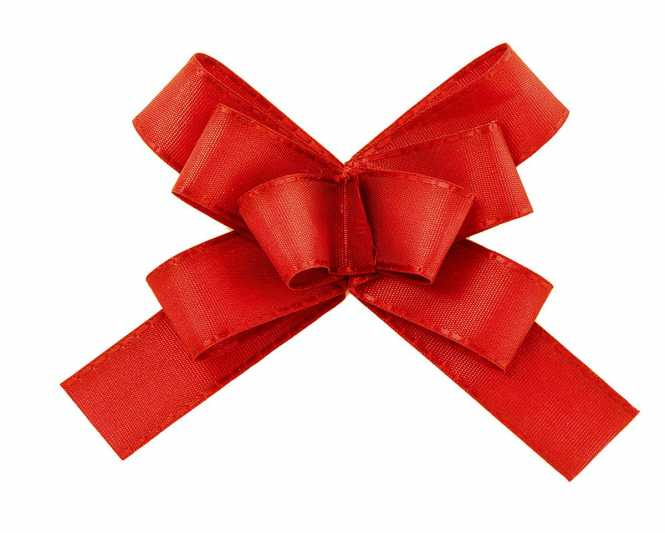 Taft - Fertigschleife Rot     mit Klebepunkt