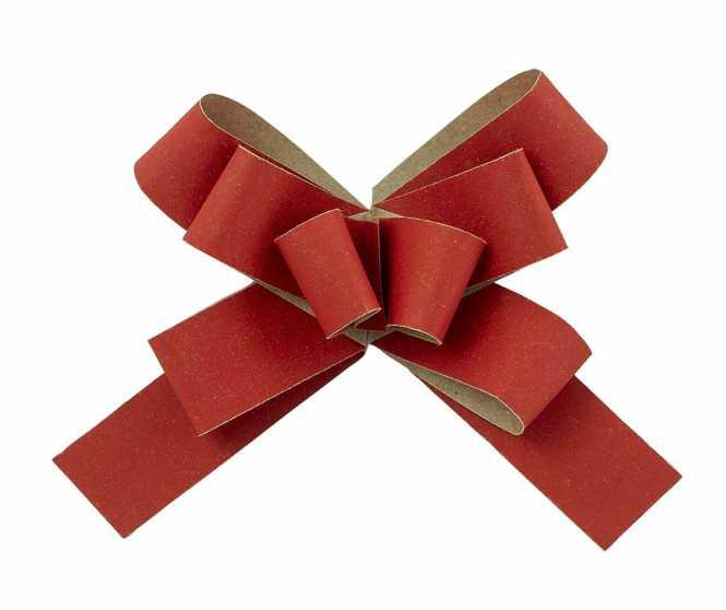 Fertigschleife Rot            mit Klebepunkt