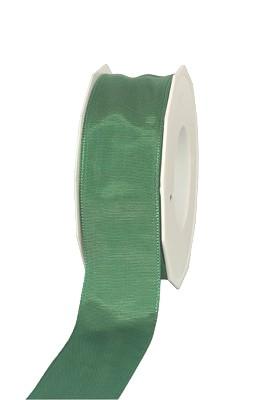 Geschenkband Lyon             GRÜN  40mm