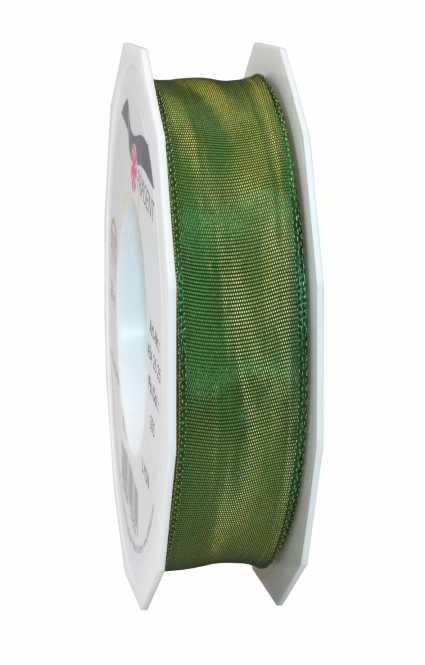 Geschenkband LYON             Moosgrün 25 mm