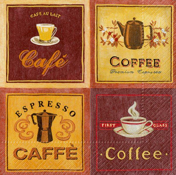 Servietten premium caf im nostalgiedesign 3 lagig for Restposten dekoartikel