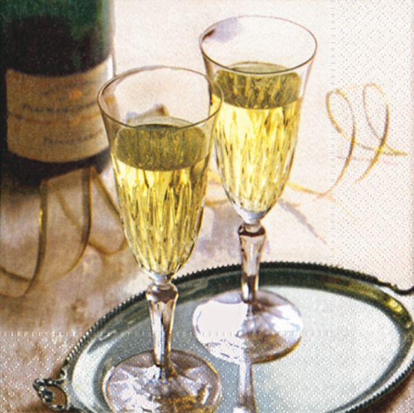 Servietten Sekt / Champagner