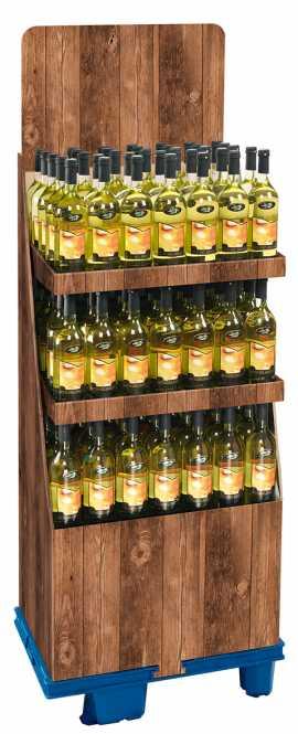 Wein-Sonderdisplay VINTAGE    3 Etagen