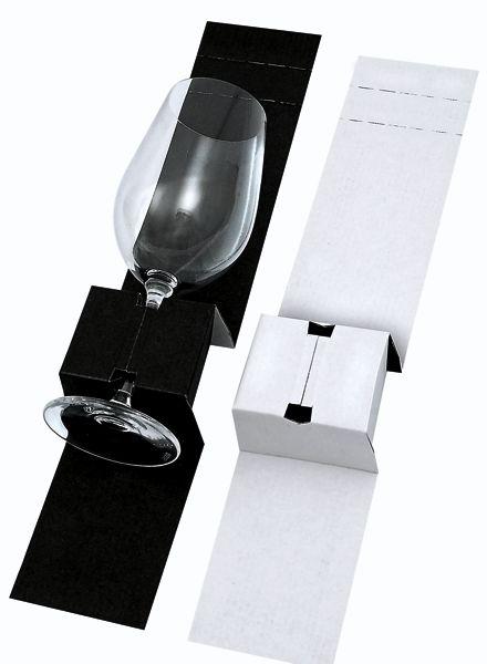 Gläsereinlage Schwarz/Weiss