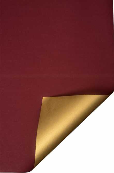 Geschenkpapierauf Rollen      Kraftpapier BORDEAUX/GOLD