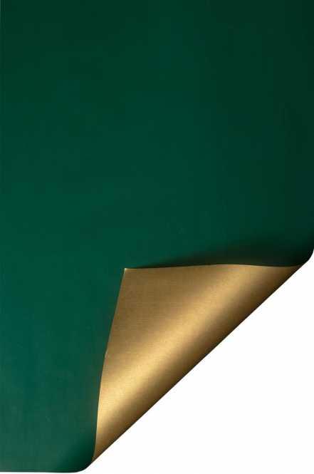 Geschenkpapier auf Rollen     Kraftpapier GRÜN/GOLD