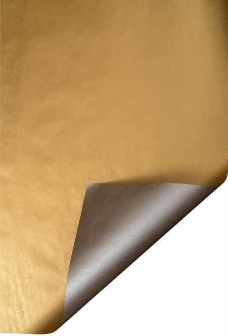 Geschenkpapier auf Rollen     Kraftpapier GOLD/SILBER