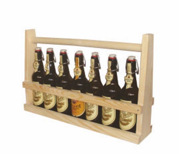 Holzflaschenträger 1/2 Meter  BIER