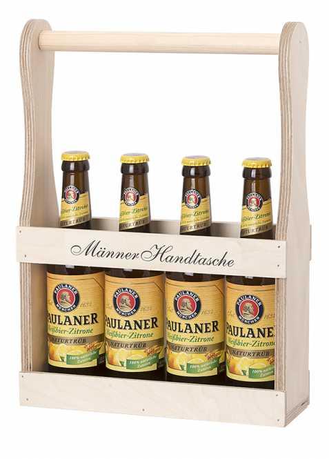 Holzflaschenträger            Männer Handtasche
