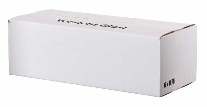 Einwegkarton 6 x 0,75 Ltr.    430 mm