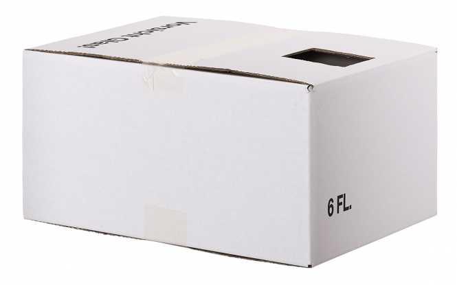 Krempelkarton 6er mit         einschlagbarem Deckel