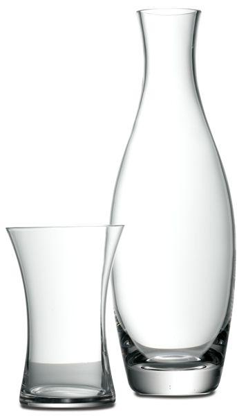 Wasser-/Saftkaraffe mit Glas