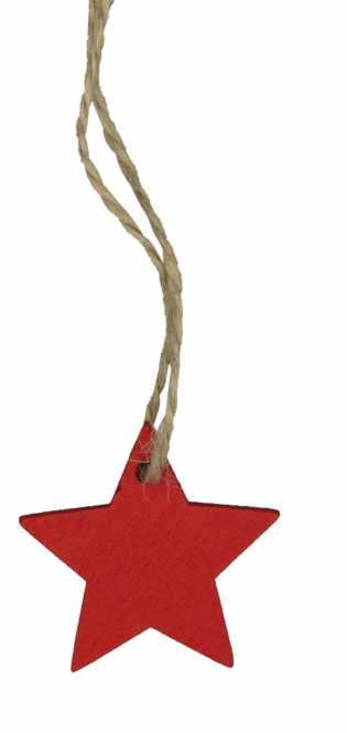 Holzanhänger Stern Rot