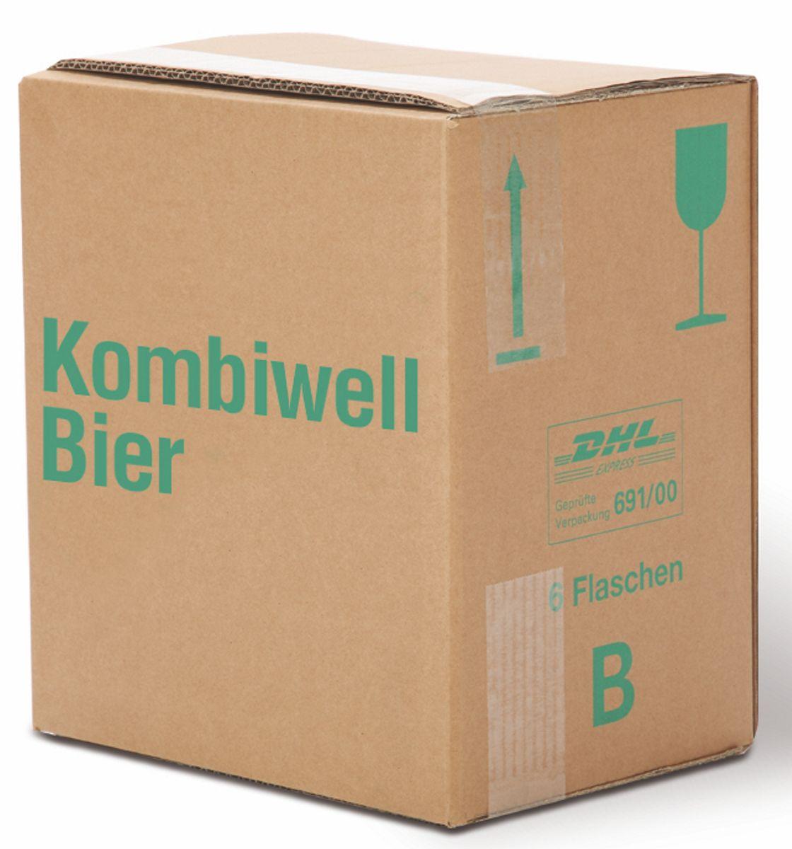 versandkarton 6er kombiwell bier stehend. Black Bedroom Furniture Sets. Home Design Ideas